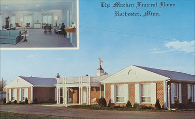 Old funeral home postcard